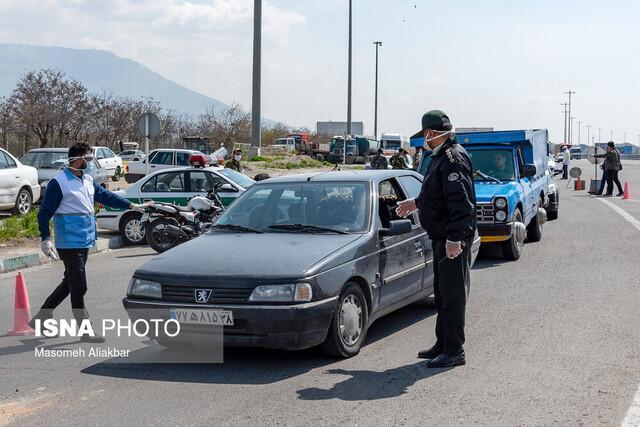 اعمال قانون 1011 دستگاه خودرو در مشهد در طرح فاصله گذاری اجتماعی