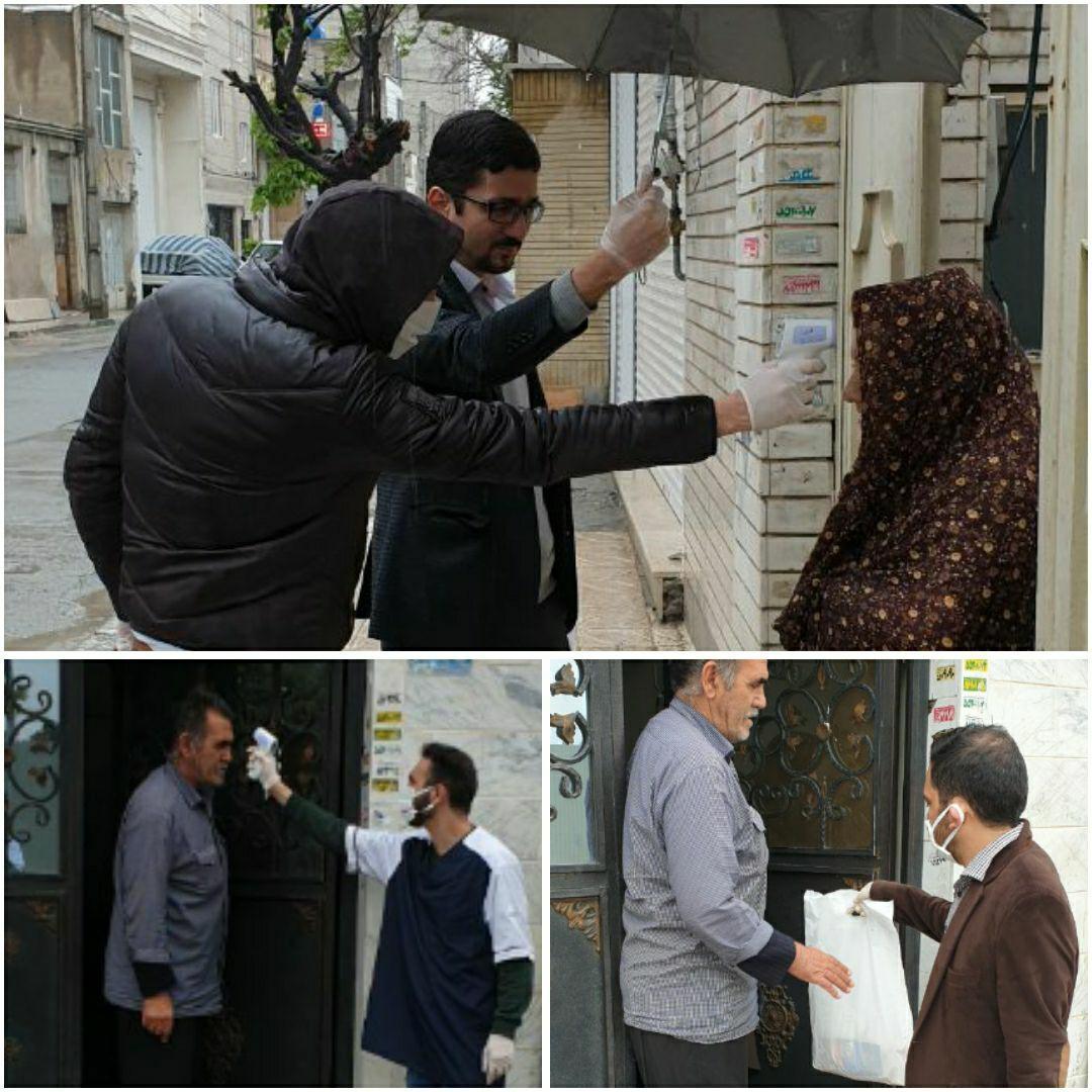 گروه جهادی منتظران ظهور پک های بهداشتی در مناطق محروم تهران توزیع می کند