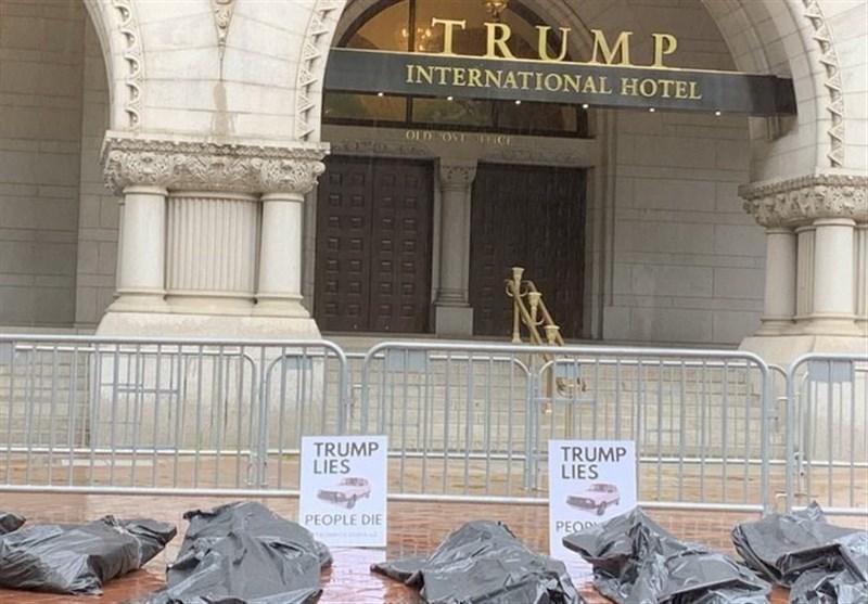 تجمع آمریکایی ها مقابل هتل ترامپ در اعتراض به نحوه مدیریت بحران کرونا