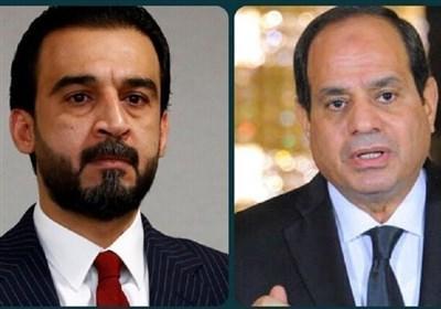 گفت وگوی السیسی و الحلبوسی درباره تقویت روابط عراق و مصر