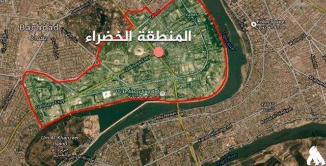 پرتاب موشک به منطقه الخضراء در مرکز بغداد