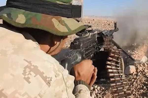 نبرد سنگین ارتش سوریه با داعش، بمباران مواضع تکفیری ها