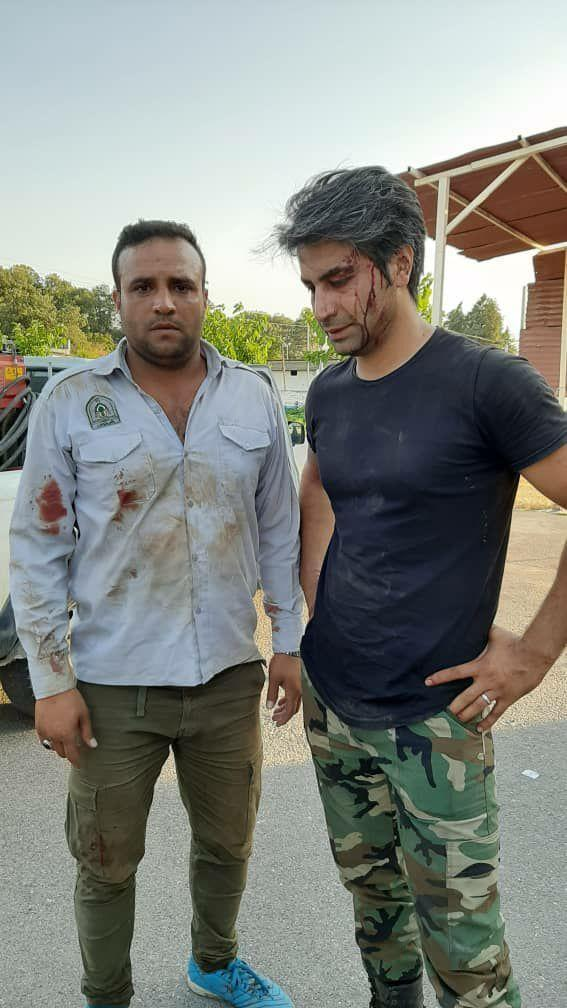 خبرنگاران دو جنگلبان گلستان توسط معارضان به منابع طبیعی مصدوم شدند