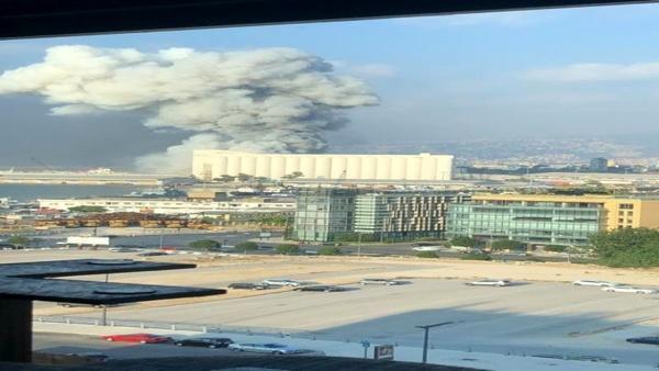 وقوع آتش سوزی مجدد در مکان انفجار بیروت