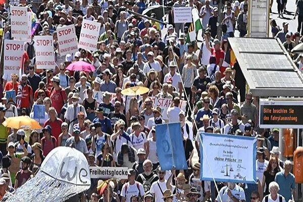 مردم آلمان تظاهرات روز آزادی برگزار کردند