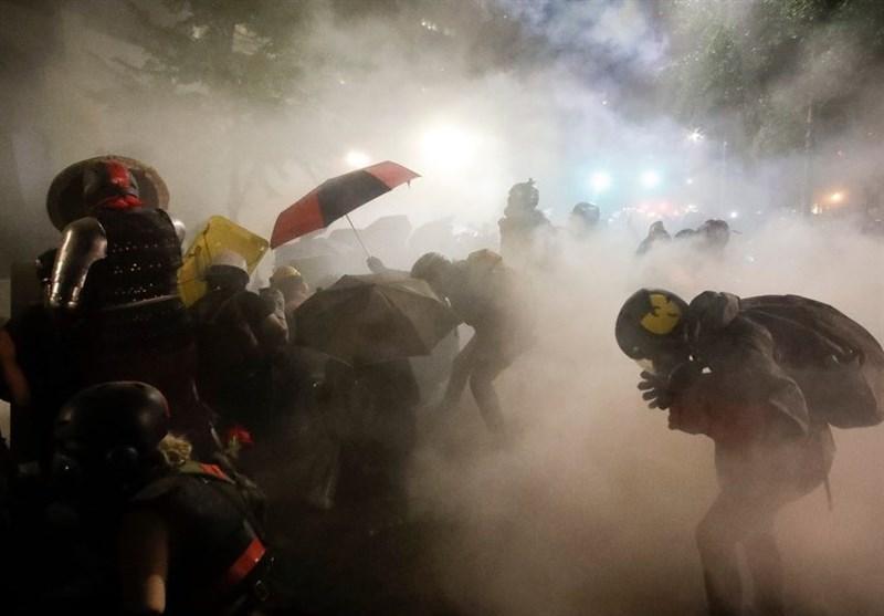 پلیس پرتلند با از سرگیری اعتراضات باز هم اعلام شرایط شورش کرد