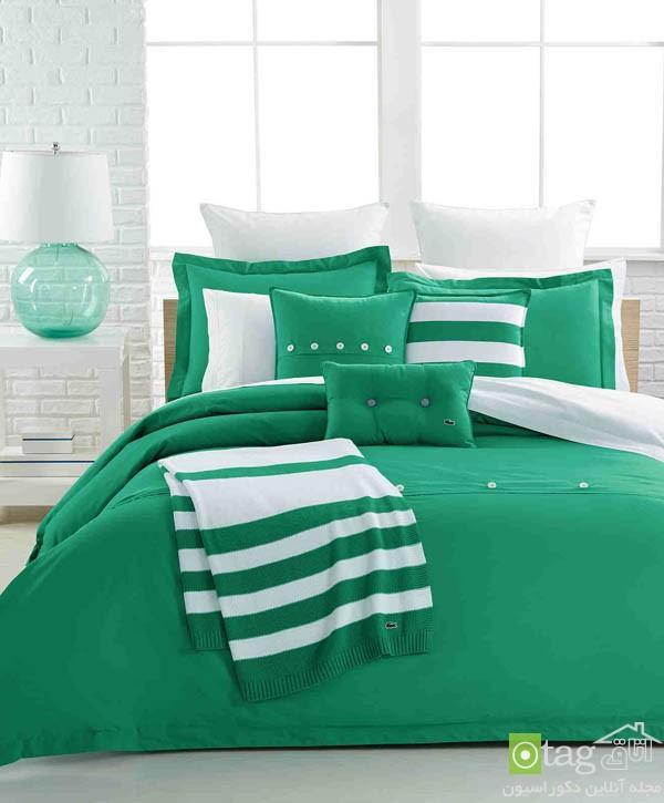 مدل های جدید روتختی سبز رنگ مناسب تخت خواب های دونفره