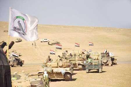 حشد الشعبی مواضع بقایای داعش را منهدم کرد