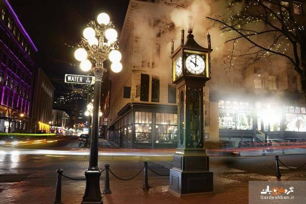 ساعت بخار؛ جاذبه معروف و جالب ونکوور