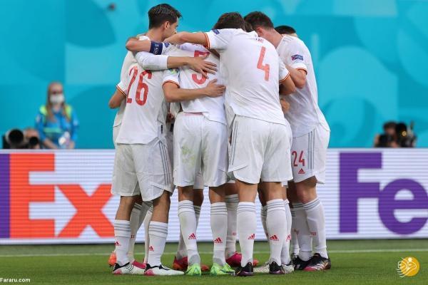 خلاصه بازی سوئیس 1 (1) ، (3) 1 اسپانیا؛ صعود لاروخا در ضربات نفس گیر پنالتی